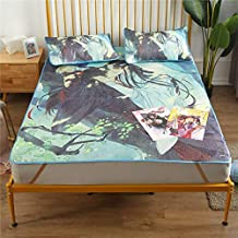Piece Bed Mattress Cover Mat Kit Summer Sleeping Mat Mattress Protector Cover Summer Bed Mat Cartoon cat Printed Bed Cover...