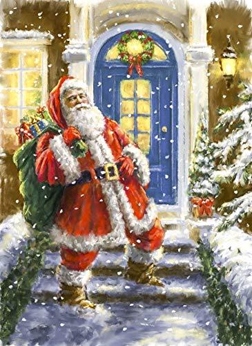 Christmas 5d DIY Diamond Painting Art Santa Claus Hand Paint Diamond Mosaic Art Craft Rhinestone for Wall Decoration