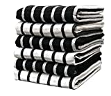 PIXEL HOME Superior Cotton Multi-Purpose Kitchen/Cleaning Towel/Waffle Dish Cloth Colour -Black