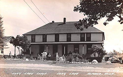 Long Lake Lodge Deluxe Michigan Alpena postcard Bargain
