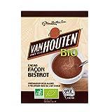 Van Houten - Cacao Façon Bistro Bio - Cacao en Poudre pour Boissons Cacaotées Instantanées -...