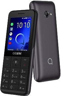 Alcatel 3088 Metallic Gray 2,4 tum Con Whatsapp Lte, Nano SIM TF-kort