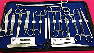 New High Grade 98 Pieces Us Military Field Style Instrument Set ! Scissors Forceps !hemostat ! Needle Holder ! Blades ( All In One )