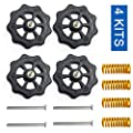 3Dman 4PCS Upgraded Hand Twist Leveling Nut Diameter 40mm + 4PCS Hot Bed Spring Compression+ 4PCS M4X40mm Screws for Creality 3D Printer CR-10 CR-10s Ender 3 Ender 3 Pro Ender 5?4 Set?