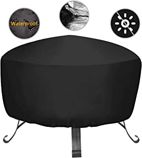34-inch Outdoors Fire Pit Cover Durable Patio Fire Bowl Cover Waterproof Round Fire Pit Cover