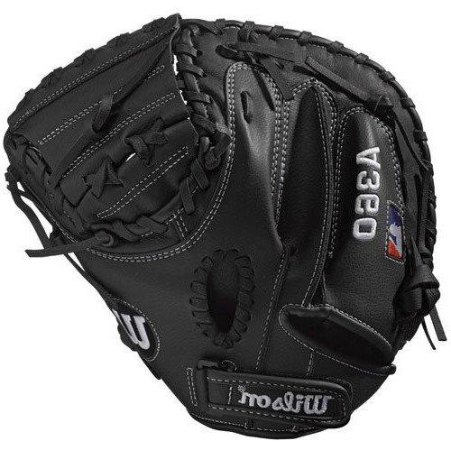 Wilson Baseball-Handschuh, A360, Größe: 31,5 Zoll, Catcher, schwarz, WTA03RB17CM315