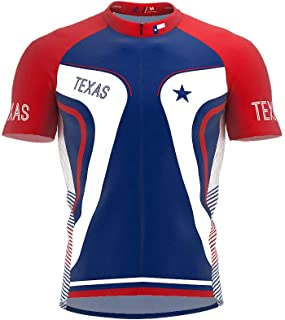 ScudoPro Texas Bike Short Sleeve Cycling Jersey for Men