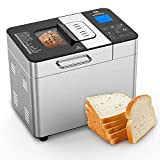 MOOSOO Bread Maker with Automatic Fruit Dispenser,...