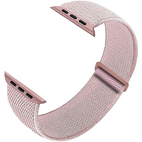 Correa de repuesto deportiva compatible con correas de reloj Apple de 38 mm, 40 mm, 42 mm, 44 mm, pulseras de nailon transpirable, compatibles con iWatch Series 6, 5, SE, 4, 3, 2, 1