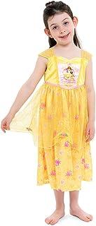 Disney Girls' Big Princess Fantasy Nightgown, Belle - Gold, 8