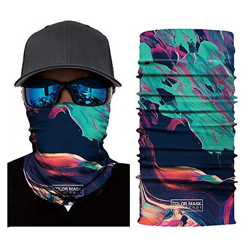 BUY-TO 2 stks Magic Wicking Hoofdbanden UV Gezicht Masker Outdoor Hoofddeksels Groene Bos Olie Schilderij Print voor Workout Yoga Hardlopen Wandelen Motorfietsen