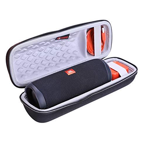 XANAD Dur Étui de Voyage Porter Housse pour JBL Flip 5 Enceinte Bluetooth Portable Robuste - EVA protectrice Cas (Blanc)