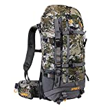 SPIKA Camo Hunting Backpack Internal Frame Hiking Backpack Waterproof Daypack for Extendable 40L+ Capacity