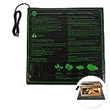 Iraza - Tappetino riscaldante per Piante Impermeabile, 45 W, per terrario idroponico, Serra di germinazione riscaldante per Interni o Esterni, 50,8 x 50,8 cm