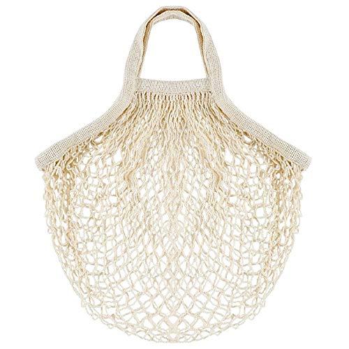 wivarra 1 Set Of 10, Fruit Net Bag, Supermarket Shopping Bag, Cotton Material Portable Net Bag, Vegetable and Fruit Storage Bag