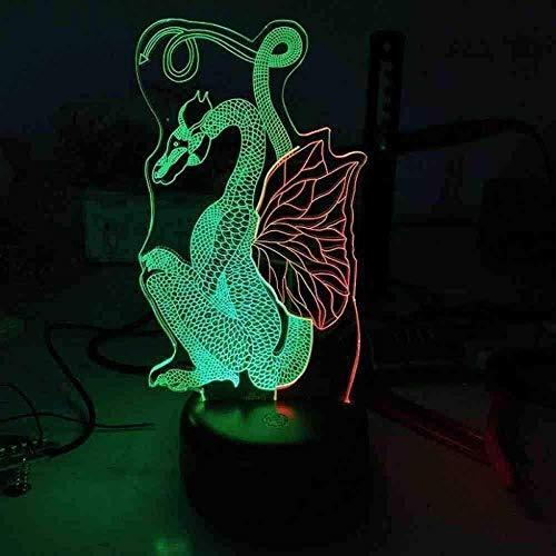 Dragon Seven Color Touch Lámparas de mesa 3D Lámpara de escritorio USB de mesa de regalo de San Valentín al por mayor