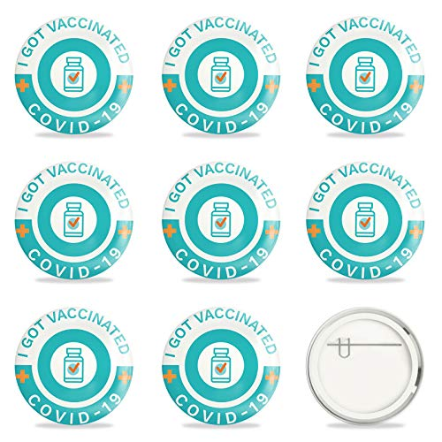 GLOBLELAND 9 Piezas vacunados para Virus vacunados contra Covid 19 Pines Insignias de Botones de COVID-19 Pines de Botones de vacunas