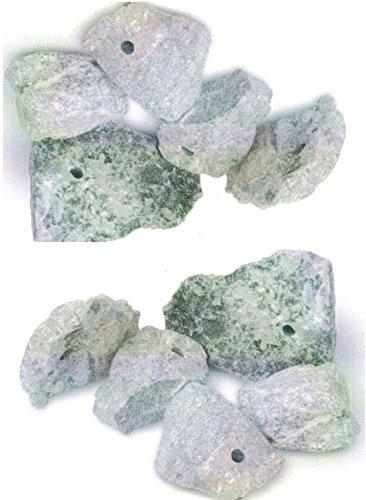 artdee® 10 Speckstein Amulett-Anhänger mit Loch - Rohlinge (asbestfrei)