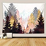 Sunset Hill Tapestry Tapiz de Pared Forest Hill Nature Landscape Tapiz Decoraciones para el hogar para Sala de Estar (150x100cm cm