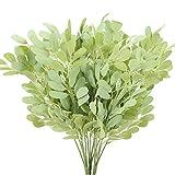 XHXSTORE 3PCS Verde Piante Finte da Interno Esterno Foglie Decorative di Eucalipto Bouquet Fiori Artificiali Cespuglio Artificiale per Ghirlande Vasi Contenitori di Vetro Composizione Floreale