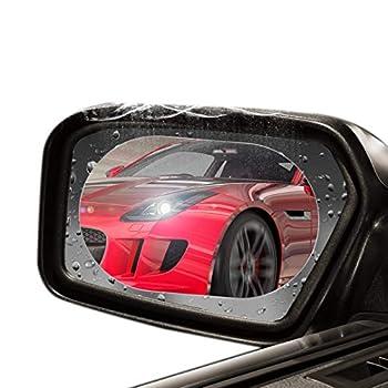 ELESKY Car Rearview Mirror Film Rainproof Anti Fog Anti Glare Anti Scratch Waterproof HD Nano Clear Protective Sticker Film for Car Mirrors