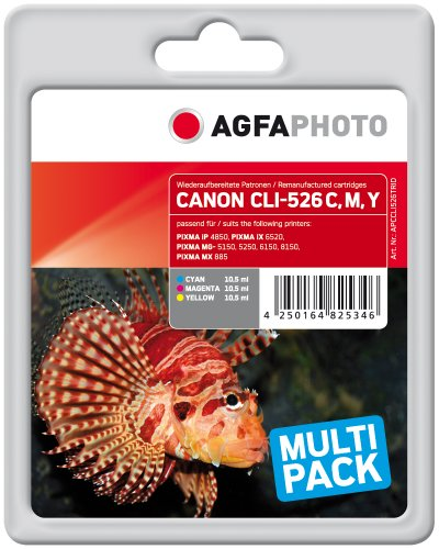AgfaPhoto APCCLI526TRID nachgefüllt Tintenpatronen 3er Pack