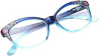 Aiweijia Ladies Reading glasses comfortable glasses Flower pattern frame Eyewear for Women