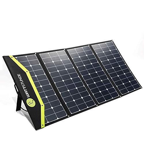 WATTSTUNDE Sunfolder Solartasche - Mobiles 12V Outdoor Solarpanel - faltbares Solarmodul ohne Laderegler (220 W)
