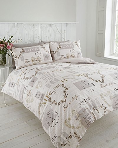 VINTAGE HEART TRADITIONAL HOME DUVET COVER BED SETS (Double)