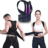 Back Braces for Posture Correction with Dual GFRP Brace Bars Support | Back Support/Back Straightener Posture Corrector for Women and Men