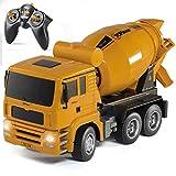 Top Race TR-120 - Camión de construcción con Control Remoto y Funciona con Pilas para niños y niñas (niños de 3 a 7 años) con Luces y Sonidos Escala 1:18