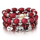Brazalete para Mujer 3-4 Wrap Bracelet Tassel Charm Bracelet and Bangle Set Sl1036