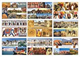 High Definition Digital Prints on Premium Quality Art Paper Set of 9 Postcard (Beauty of Rajasthan) Perfect for Gifting Can be used as a Greeting/Bookmark Size : 6x4 Inch