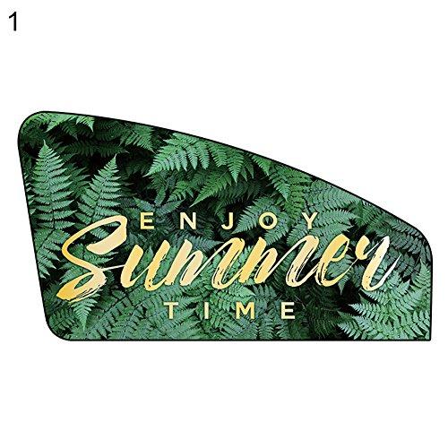 NAttnJf Universal Summer Tropical Green Leaf - Protector Solar para Ventanas de Coche (protección contra Rayos UV), Color Verde
