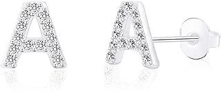 Hypoallergenic Initial Letter Studs Earrings Tiny Alphabet Stainless Steel Earrings for Sensitive Ears, Nickel Free Jewelry Gifts for Women Mens Teen Little Girls Boys