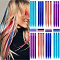 Hair Tinsel Extensions 17 Colors Fairy Hair Tinsel Kit Sparkling Shiny Hair Extensions 3200 Strands Colored Party Highlights Glitter Extensions Multi-Colors Hair Bling