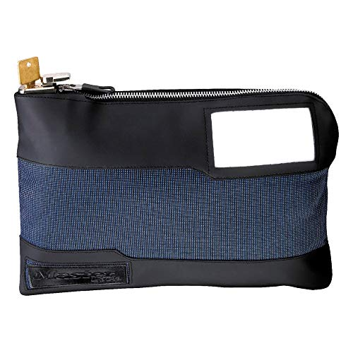Master Lock 7120D Money Bag with Key Lock 11-1/2 in. Long, Blue