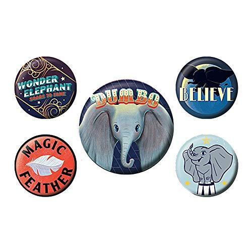 Echter Disney Dumbo Film der Fliegende Elefant 5 Stück Taste Abzeichen Stift