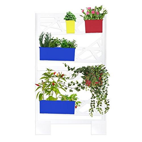 brothesign Giardino Verticale Set Medio Modulare Vaso Fioriera in Metallo per Piante Sistema riciclo Acqua Integrato Premium Pop Edition, Colorato