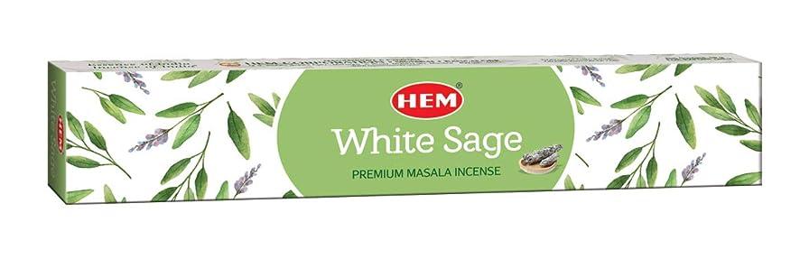スライム非行喉頭 HemホワイトセージMasala Incense Sticks、12パック、各15?gms Best Purifying andクレンジングMasala Incense