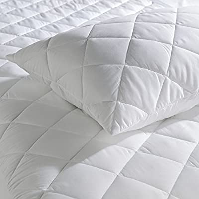 Snugglemore Hotel 100% Pure All Cotton Cover/Filling Quilted Pillow Protector Only Natural from Snugglemore