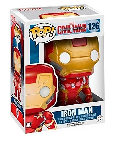 Funko Pop Iron Man (Capitán América: Civil War 126) Funko Pop Capitán américa