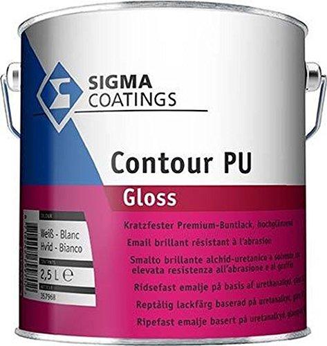 Sigma Contour PU Gloss Alkydharz- Buntlack Hochglänzend Base LN Weiß 1 L