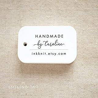 Handmade By Personalized Gift Tags - Handmade with Love Tags - Etsy Product Tags - Etsy Shop Labels - Set of 20 (Item code: J708)