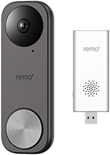 Remo+ RemoBell S Fast-Responding Smart Video Doorbell Bundle with Remo+ Indoor Chime for Remo+ Devices (2 Items)