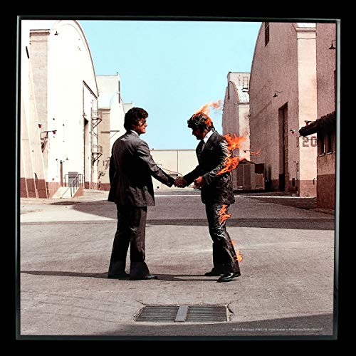 Pink Floyd Hochglanz Bild - Wish You were Here | Hardrock-Band Rockmusiker Fan-Artikel Merchandising Wandbild 32 x 32 cm