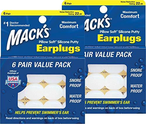 Mack 's Kissen aus weichem Silikon Ohrstöpsel Value Pack, 6Zählen
