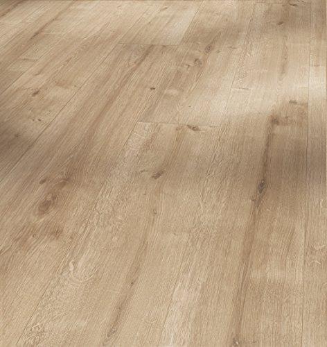 Parador Klick Laminat Bodenbelag Basic 200 Eiche geschliffen Landhausdiele Seidenmatte Struktur Fuge 2,742m² hochwertige Holzoptik braun, 7 mm, einfache Verlegung