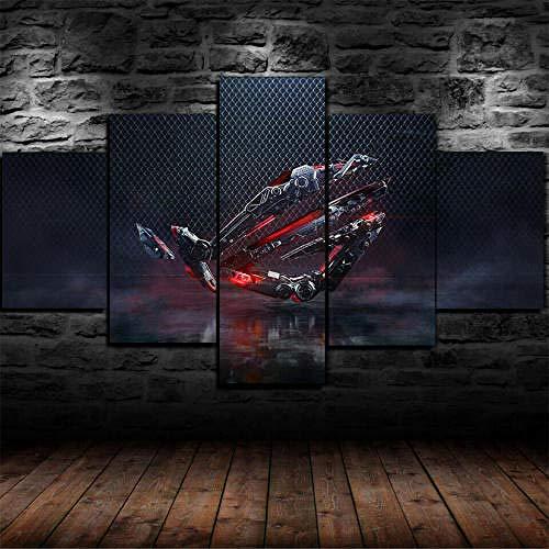 Impresión Hd Pintura 5 Piezas Cuadro En Lienzo,150X100 Cuadros Modernos Salón Decor Pared Canvas Prints Wall Art Modular Poster Mural Decorativo Juegos Pc Asus Rog Republic Of Gamers Regalo Navidad