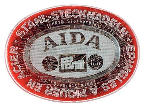 Prym 024349 - Spilli, 0,60 x 32 mm, 25 g, scatola di plastica, acciaio, 32 x 0,6 mm, colore: argento
